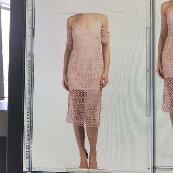 Blush midi dress By KEEPSAKE Countdown Lace Dress